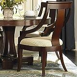 Coaster Home Furnishings Transitional Arm Chair (Set of 2), Dark Cherry/Tan