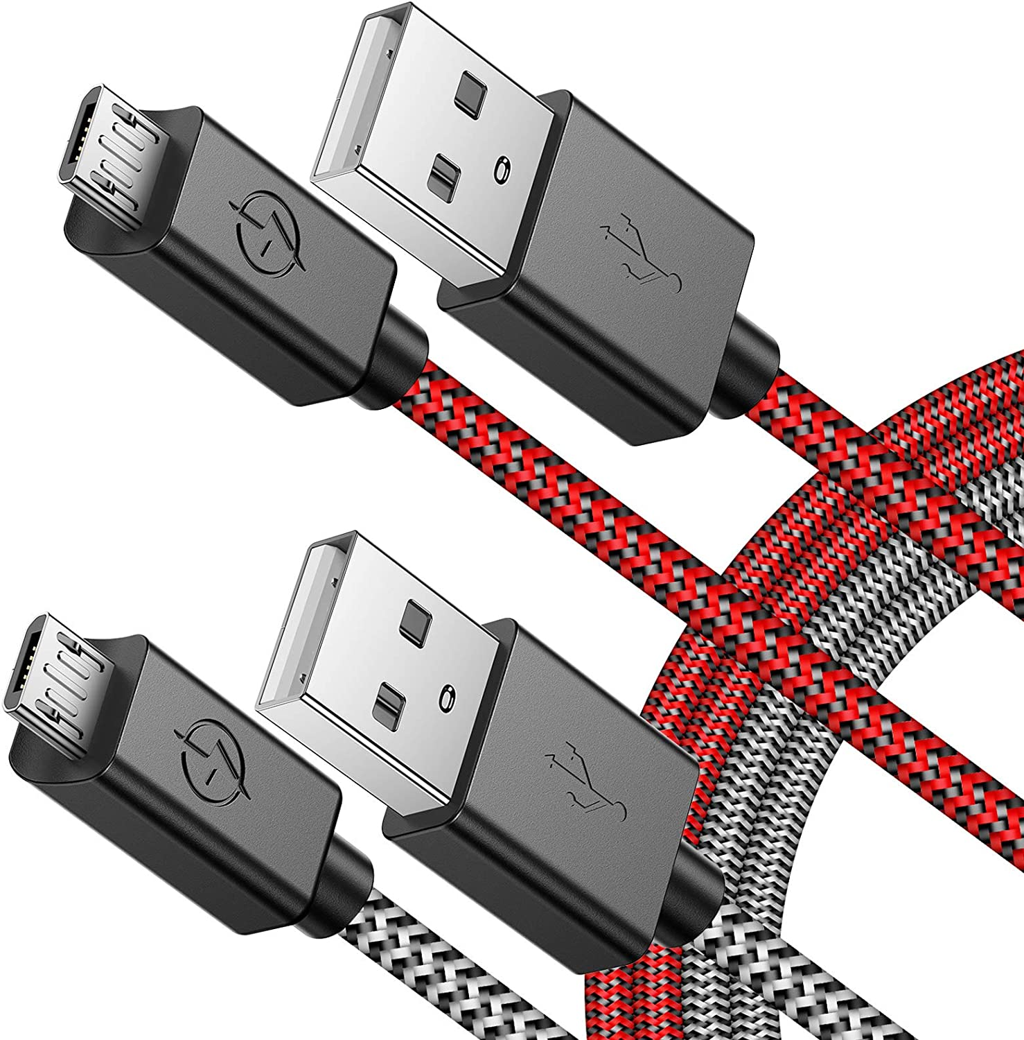 USB Cable 10ft 2 Pack 10FT Nylon Braided Long Micro USB Cable High Speed Data and Charging-11-2