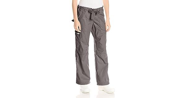 23e98cc4067 KOI Women's Lindsey Ultra Comfortable Cargo Style Scrub Pants (PETITE  SIZES), Steel, Small/Petite