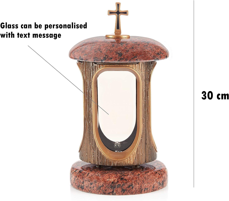 Grande lanterne fun/éraire en granit pour hommage fun/éraire D/écoration de cimeti/ère