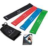 Resistance Loop Bands Set with Exercise Guide - Exercise Bands for Improving Mobility and Strength, Yoga, Pilates or for Injury Rehabilitation - Suitable for Women and Men - Made From Natural Latex