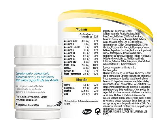Multicentrum Junior - 20 comprimidos masticables: Amazon.es: Salud y cuidado personal