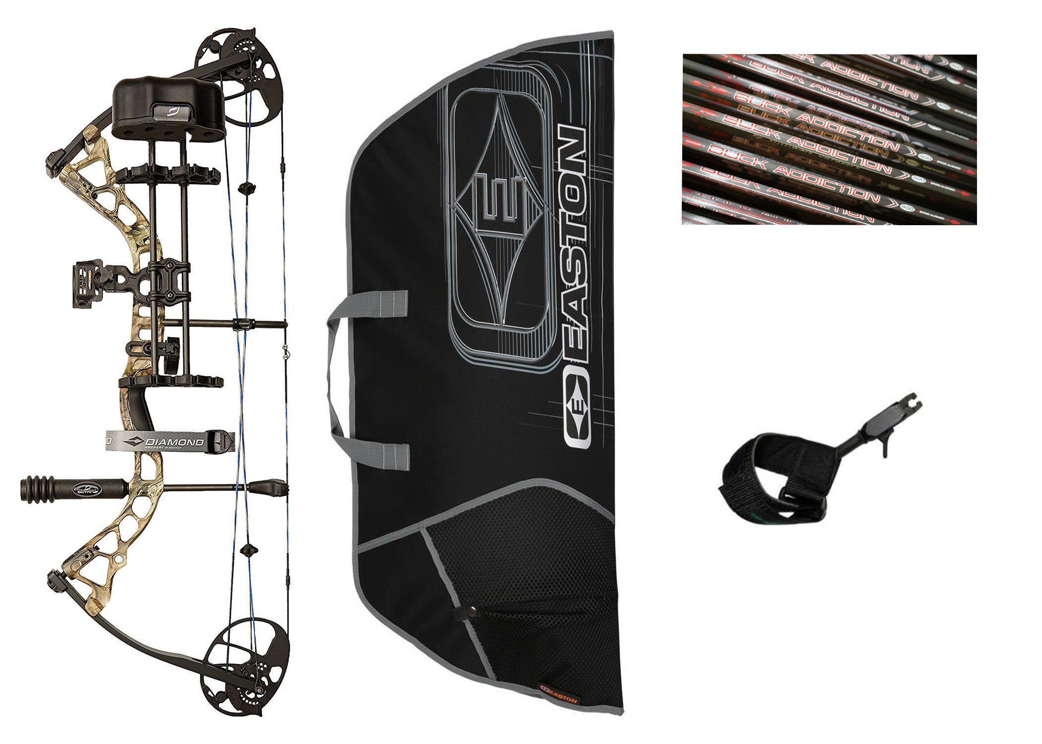 Diamond Infinite Edge Pro Compound Bow, Camo, Right Hand, Ready to Hunt Package