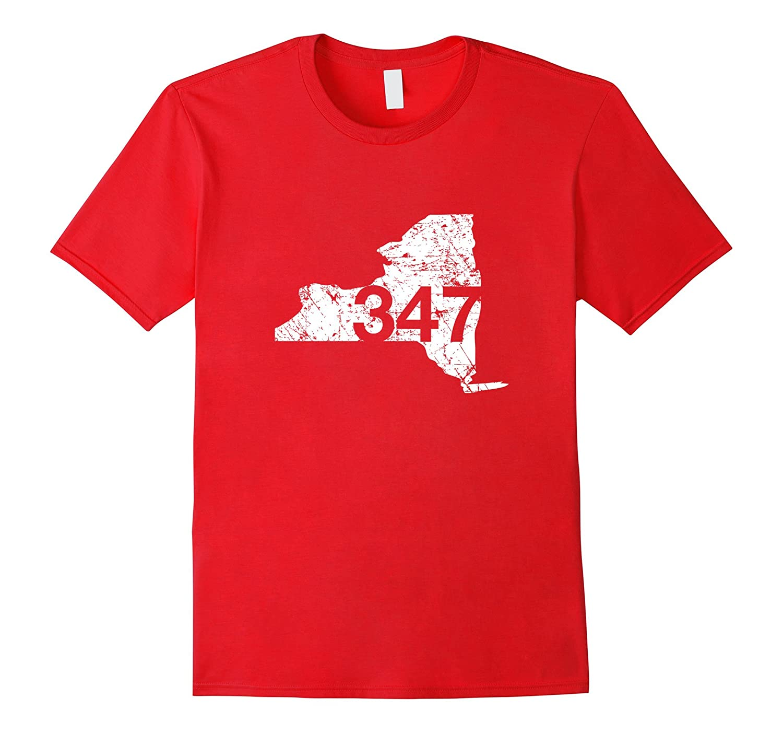 Bronx Brooklyn Area Code 347 Shirt New York Souvenir Gift-TH