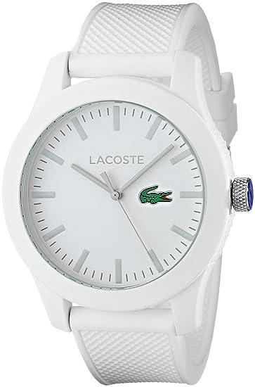 a1b3c96d7970 Lacoste 12.12 2010762 Reloj blanco con brazalete texturizado para hombre