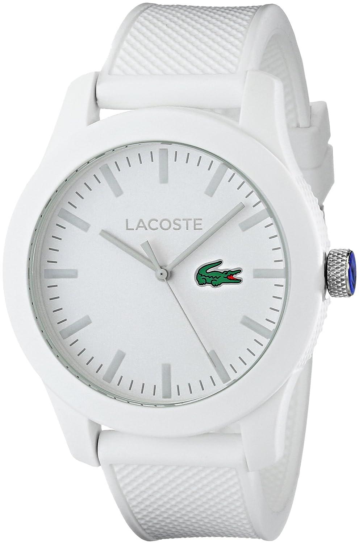 Amazon Com Lacoste Men S 2010762 Lacoste 12 12 White Watch With