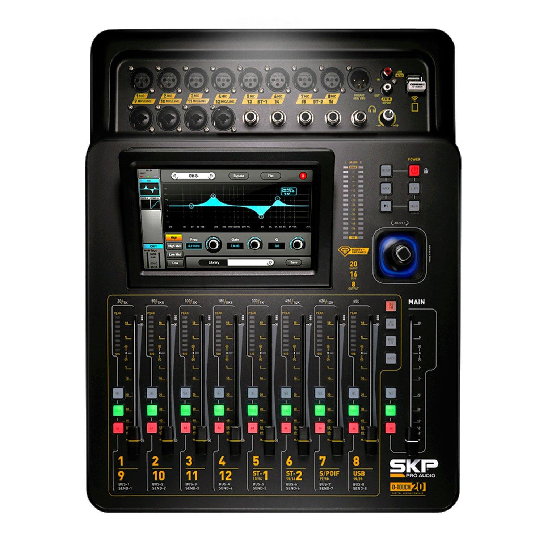 SKP Pro Audio d-touch 20 consola de mezclas digital pantalla táctil wifi 20-inputs/16-bus/8-outs: Amazon.es: Instrumentos musicales