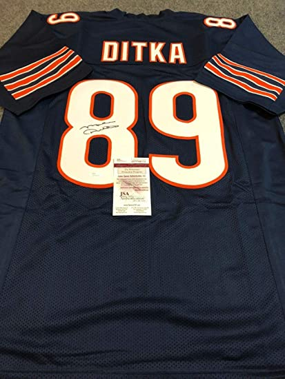 e7e288ac8eb Image Unavailable. Image not available for. Color  CHICAGO BEARS MIKE DITKA  AUTOGRAPHED SIGNED JERSEY ...