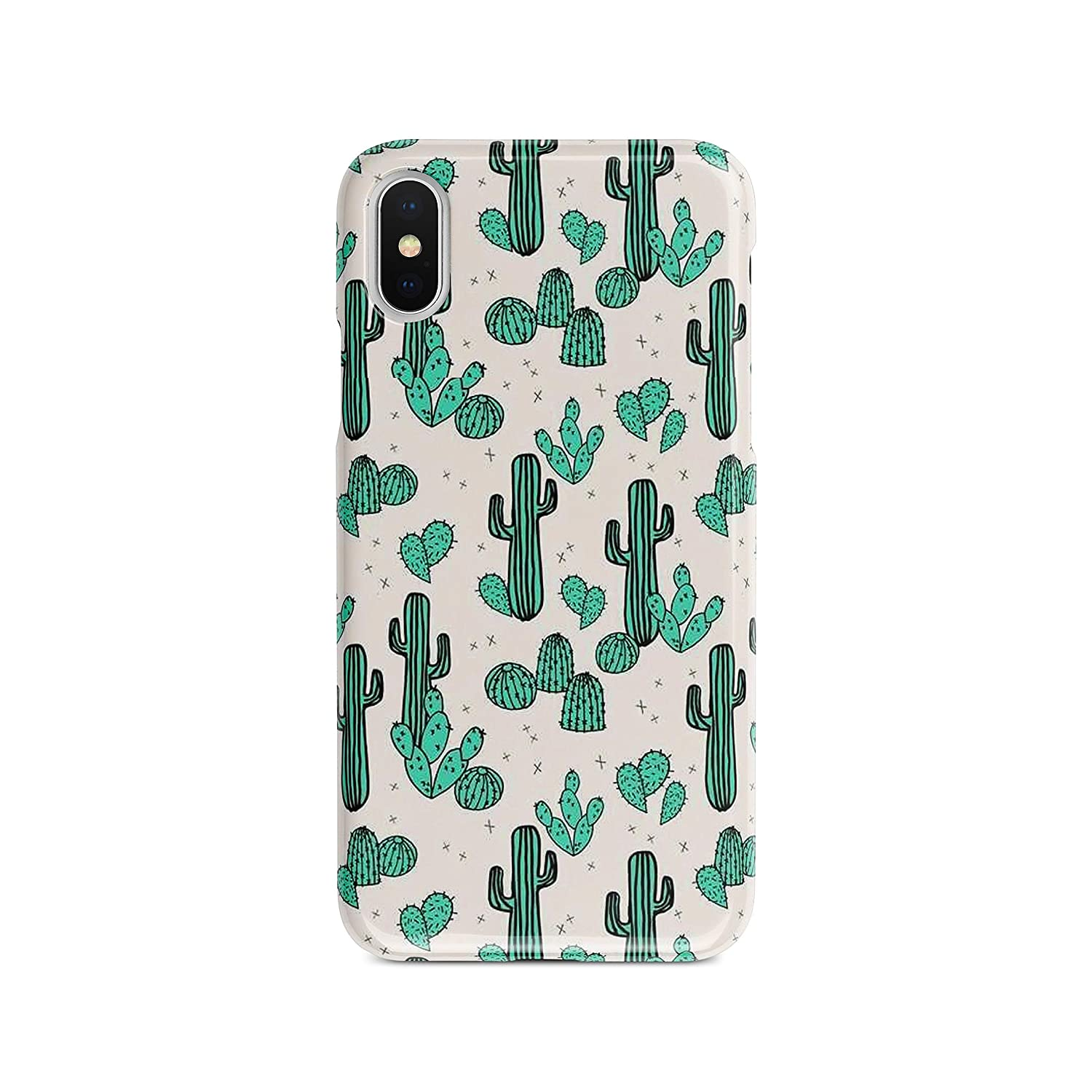 Cacti Cute Case For iPhone Xr Xs Max X 7 8 Plus Case Funny Cactus Protective Phone Cover A274