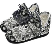COFACE Knuffelige pantoffels voor dames, hoogwaardig warm, binnengevulde huislaarzen, antislip, huttenschoenen voor…