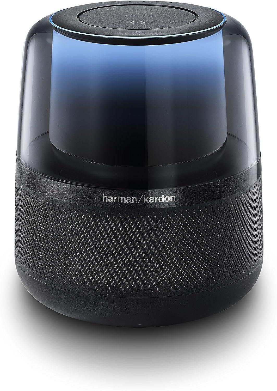 Black Renewed Harman Kardon Allure Voice-Activated Home Speaker with Alexa