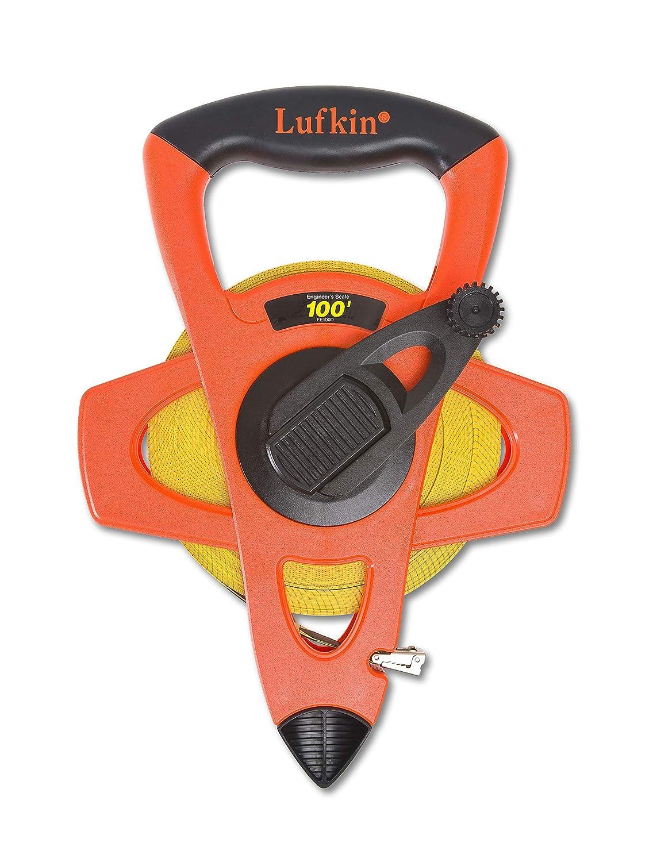 Lufkin FE100D Hi-Viz Linear Open Reel Fiberglass Engineers Tape 3//4-inch X 100-foot