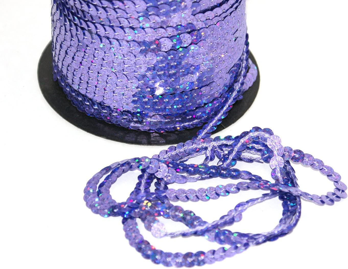 5 m violett Holo S36 Pailettenband