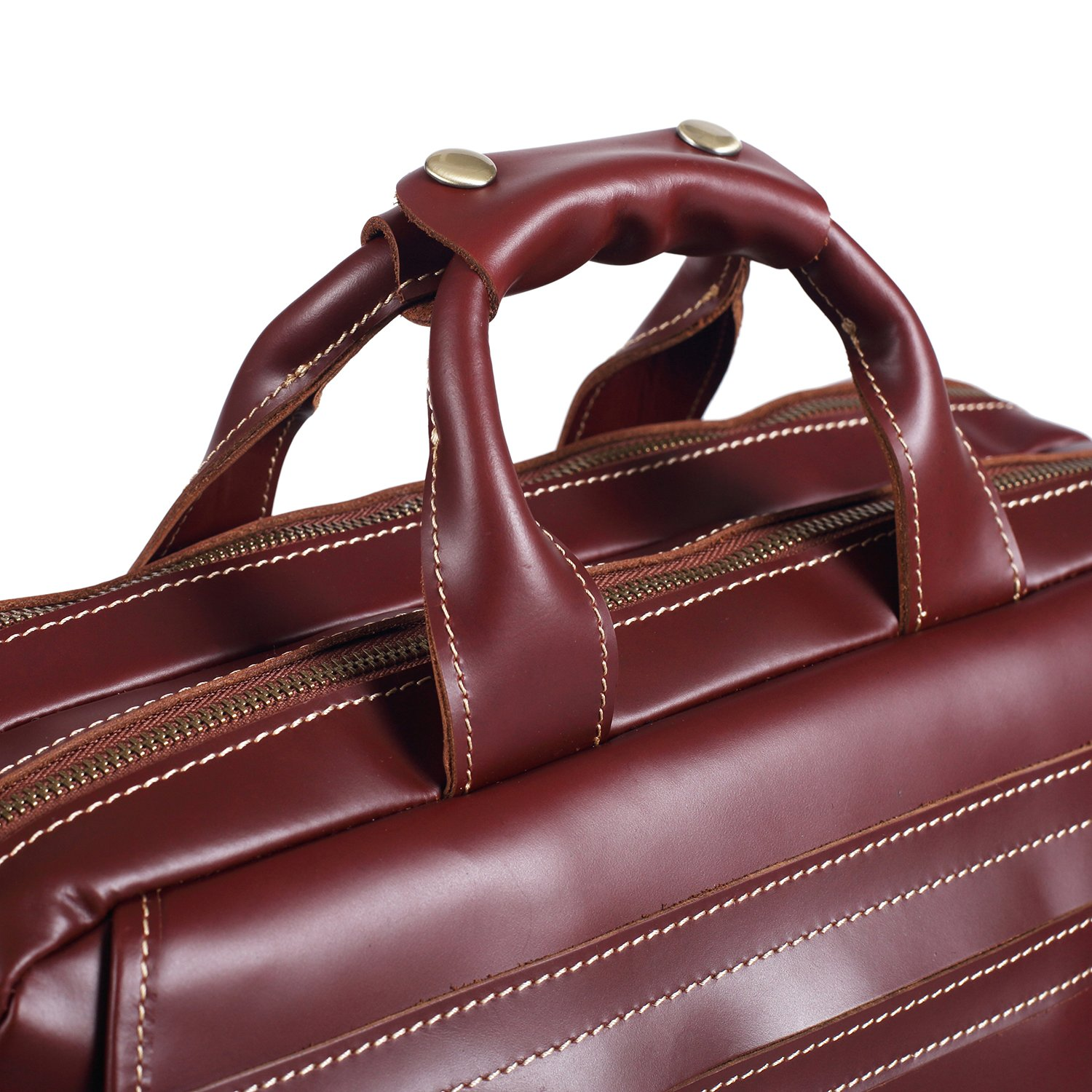 Polare Italian Leather Briefcase Should Bag Attache Fit 15.6inch Laptop by Polare (Image #8)