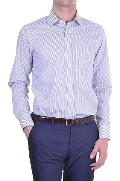 3fb99497bd Caliban - Camicia Uomo Slim multicolor 42: Amazon.it: Abbigliamento