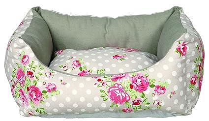 Trixie rosa perro cama, 45 x 40 cm, color gris/blanco