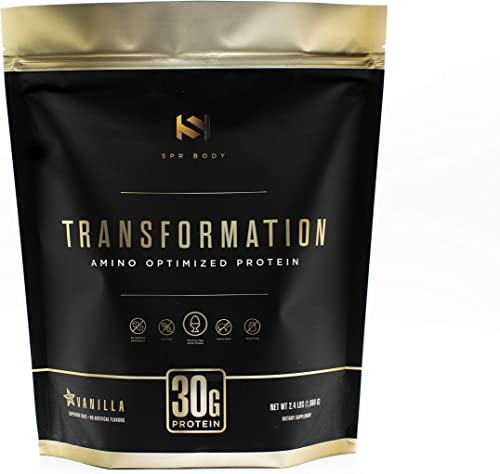 Transformation Protein Premium Bioactive Protein Formula Blend Collagen Peptides Egg White Plant Protein MCT Oil BCAA Amino Acids Probiotics Enzymes for Gut Health Immune Support