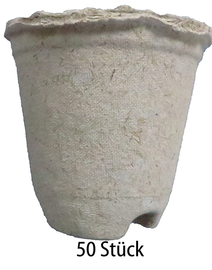 Pflanztöpfe kompostierbar, rund, 0,3 Liter, 50 Stück (Preis je ...