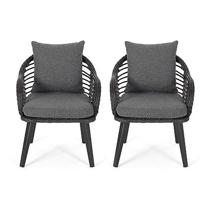 Fine Amazon Com Great Deal Furniture Madison Outdoor Wicker Machost Co Dining Chair Design Ideas Machostcouk