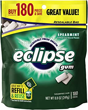 180 Pieces of Eclipse Chewing Gum: $5.46 (or $4.89) + FS @ Amazon S&S