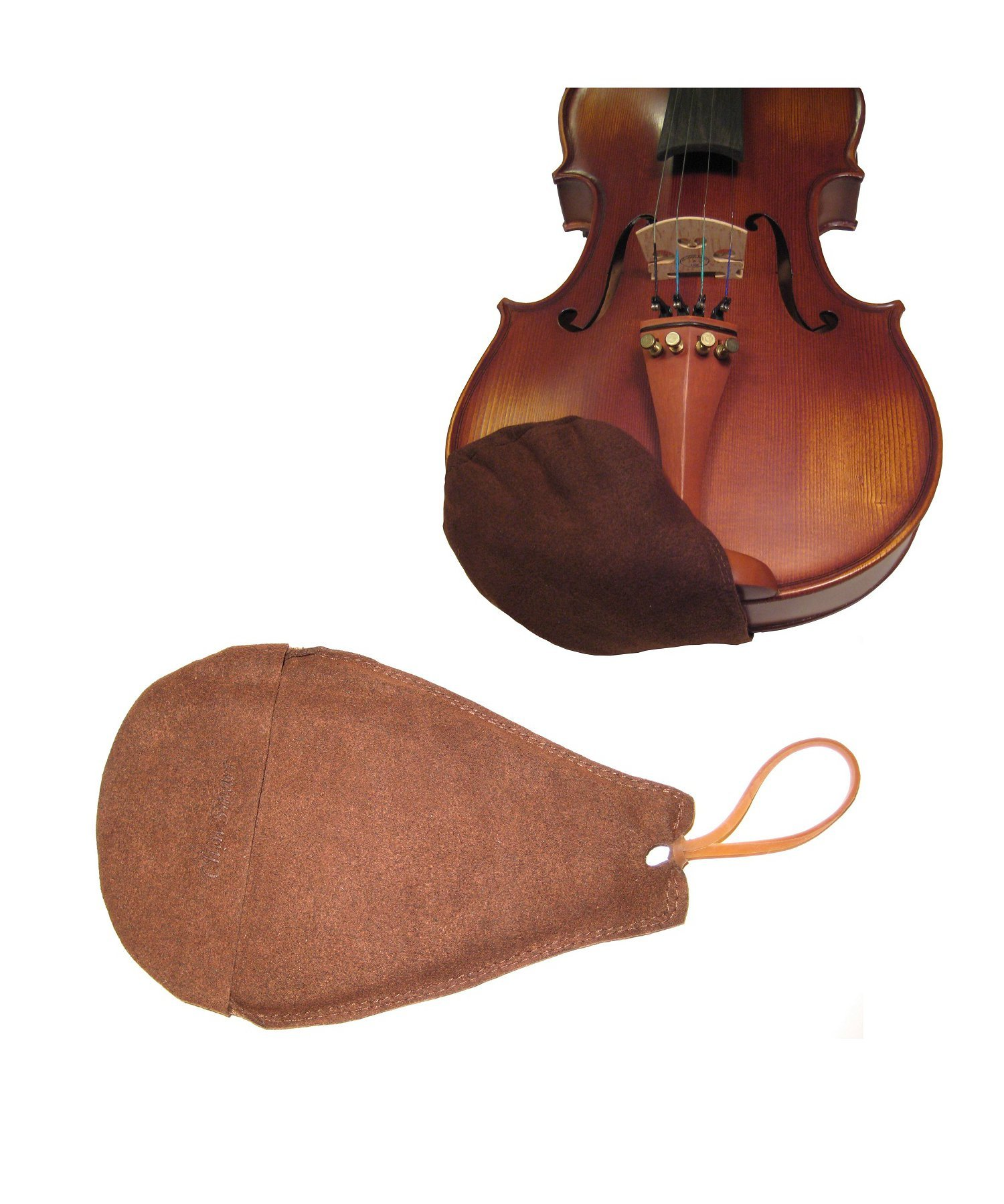 Chin Smart Chinrest Cover for Violin and Viola-Brown