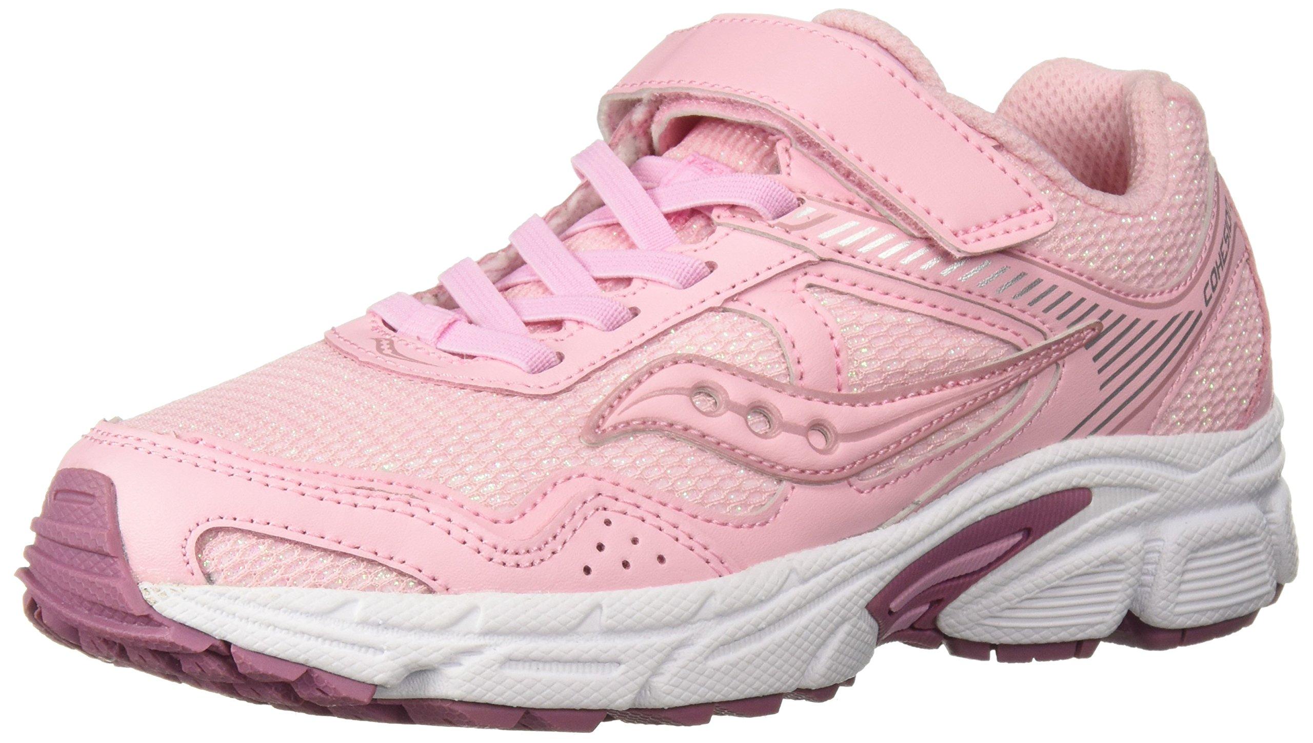 77a26c1e Saucony Girls' Cohesion 10 A/C Sneaker, Blush, 10.5 W US Little Kid