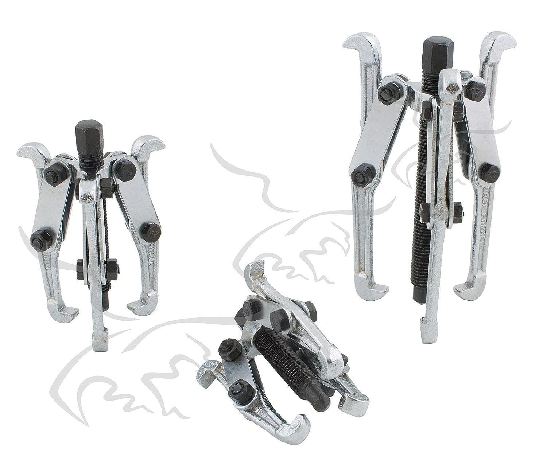 3 Garras Tuecompra S.L Extractores de poleas rodamientos y cojinetes 50 100 y 150 mm