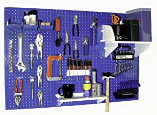 product image for Wall Control 30-WRK-400BUW Standard Workbench Metal Pegboard Tool Organizer,Blue/White