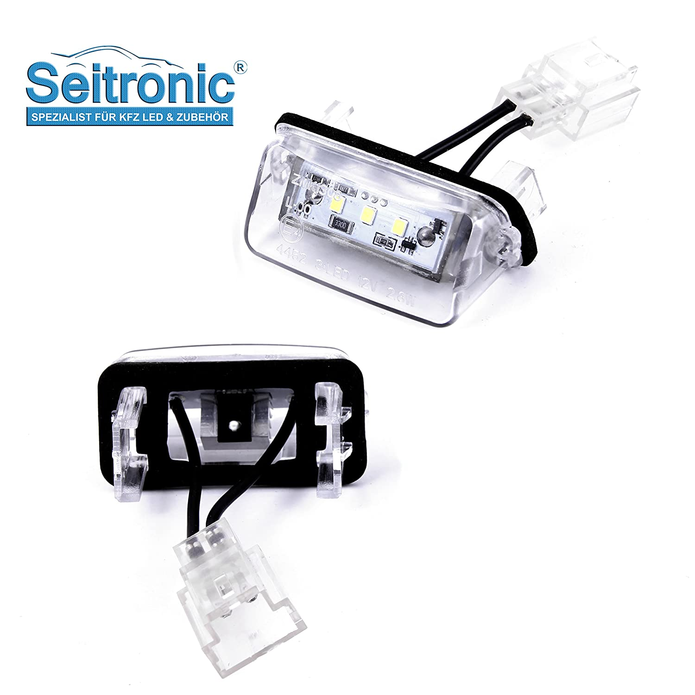 2 módulos de luces LED para matrícula de alta calidad, compatibles con su vehículo, sin necesidad de homologación de TÜV, muy brillantes y con certificado ...