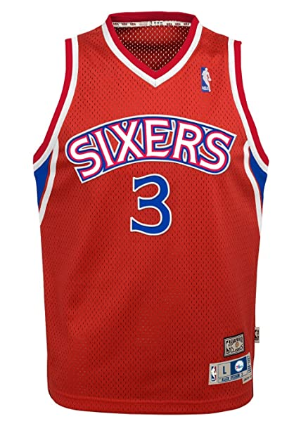 huge selection of 47b58 de6f0 Philadelphia 76ers Allen Iverson Youth Jersey Soul Swingman Red