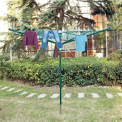 MultiWare tendedero rotatorio secador de gamuza de exterior tendedero 4 brazo con tapa, 40M