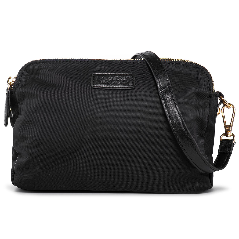 Crossbody Purse Small Shoulder Bags Women Nylon Cell Phone Purses Three Layers