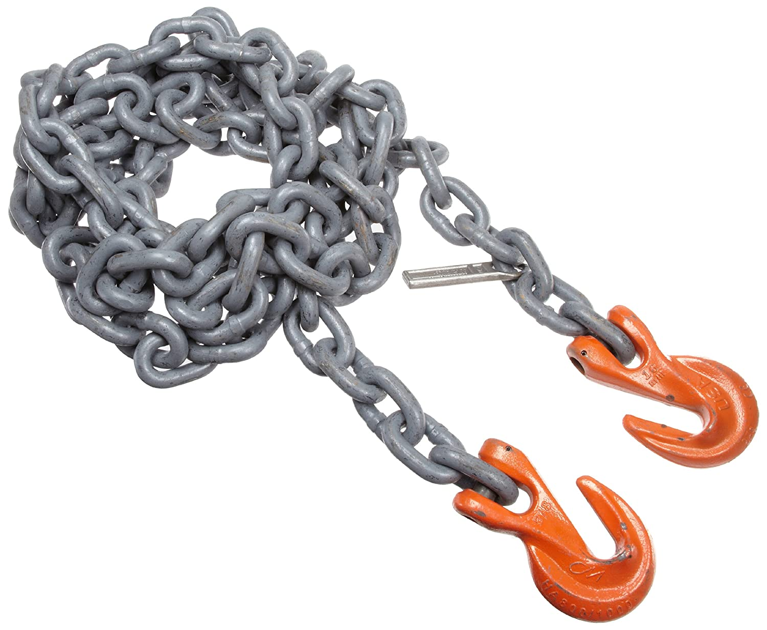 10 Length Fixed-Leg Mazzella SGG Mechanical Alloy Chain Sling 15000 lbs Vertical Load Capacity 1//2 Chain Size Grade 100