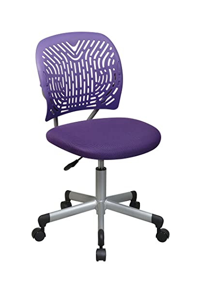 Exceptionnel Office Star Designer Task Chair In Fabric And Plastic Back, Purple