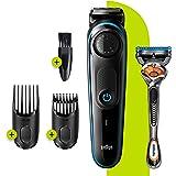 Braun Beard Trimmer BT3240, Trimmer and Hair Clipper for men, 39 Length Settings, Black/Blue