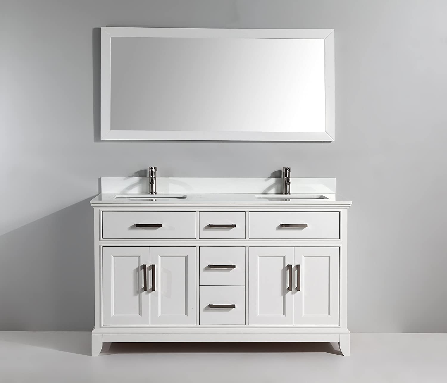 High Quality Bathroom Vanity: High-quality Vanity Art 60 Inch Bathroom Vanity Set With