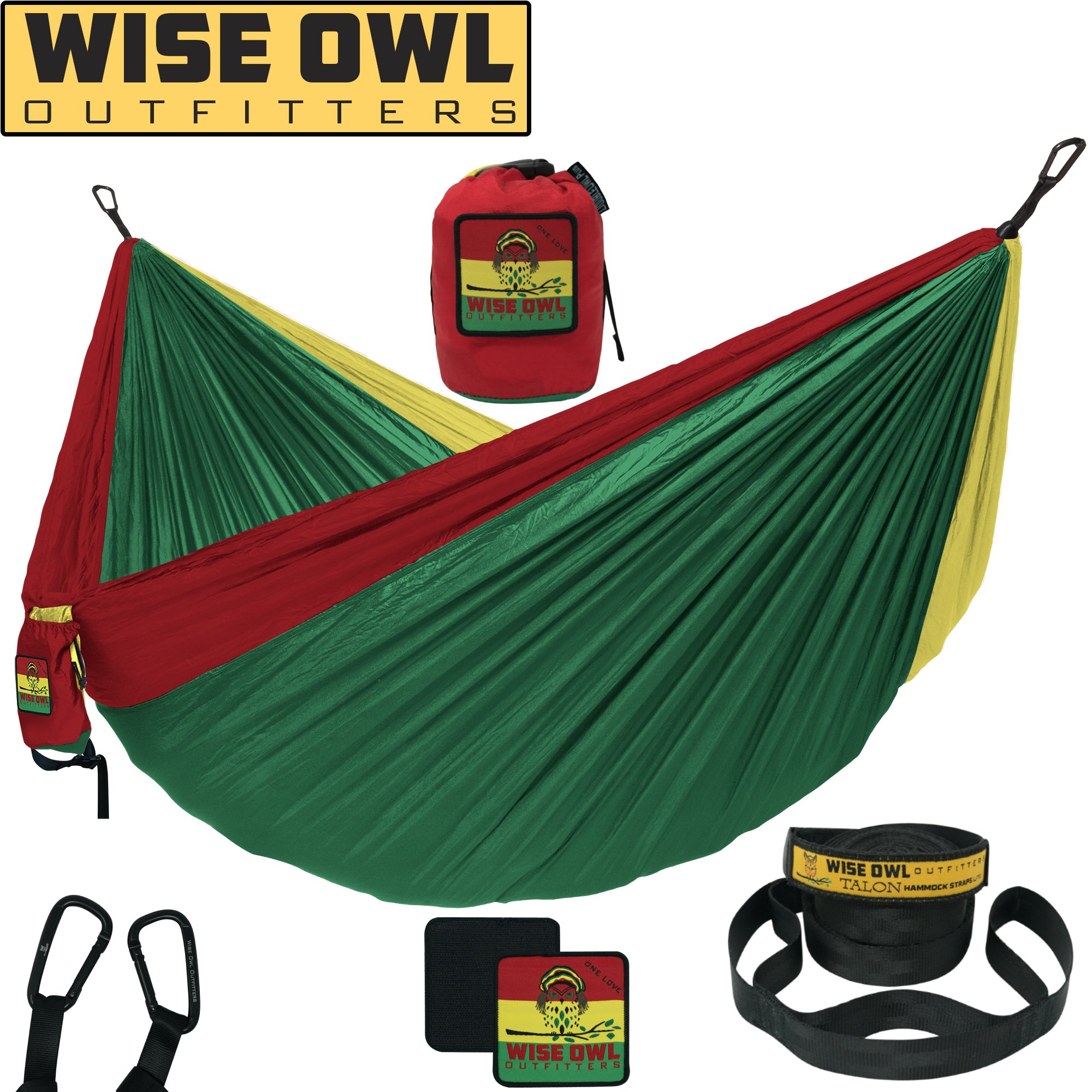 Wise Owl Outfitters Hammock Camping Double & Single with Tree Straps - USA Based Hammocks Brand Gear, Indoor Outdoor Backpacking Survival & Travel, Portable SO OL by Wise Owl Outfitters