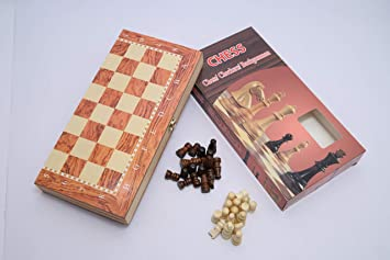 Vivir 3 in 1 Board Games for Children ( Chess , Checkers & Backgammon )