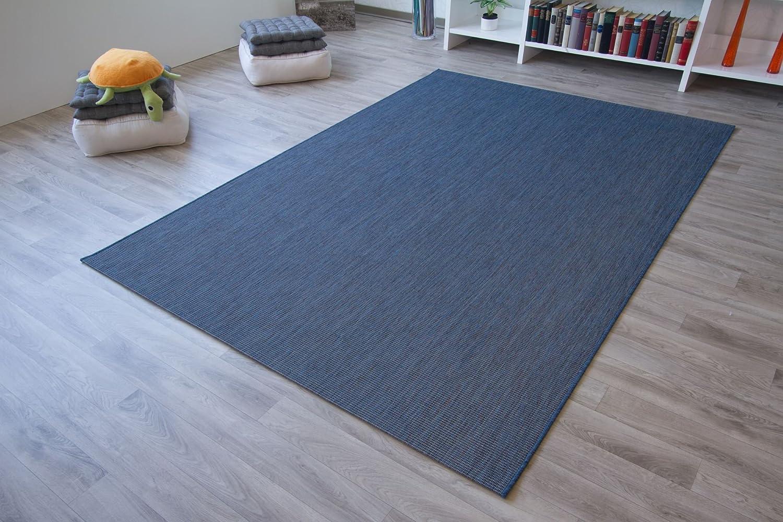 Indoor Outdoor Rug Halland Patio Flatweave Sisal Look In Blue Mix Gut Certified Size 240x340 Cm 7 9 X11 Amazon Co Uk Kitchen Home