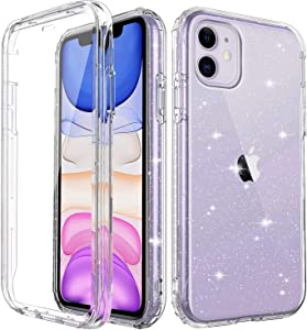 """iPhone 11 Shockproof Glitter Case with Built-in Screen Protector, Slim Fit Anti-Drop Anti-Scratch Full-Body Protective Phone Case, [Lifetime Premium Quality] Bumper Case Cover Cubevit 2019 (6.1"""")"""