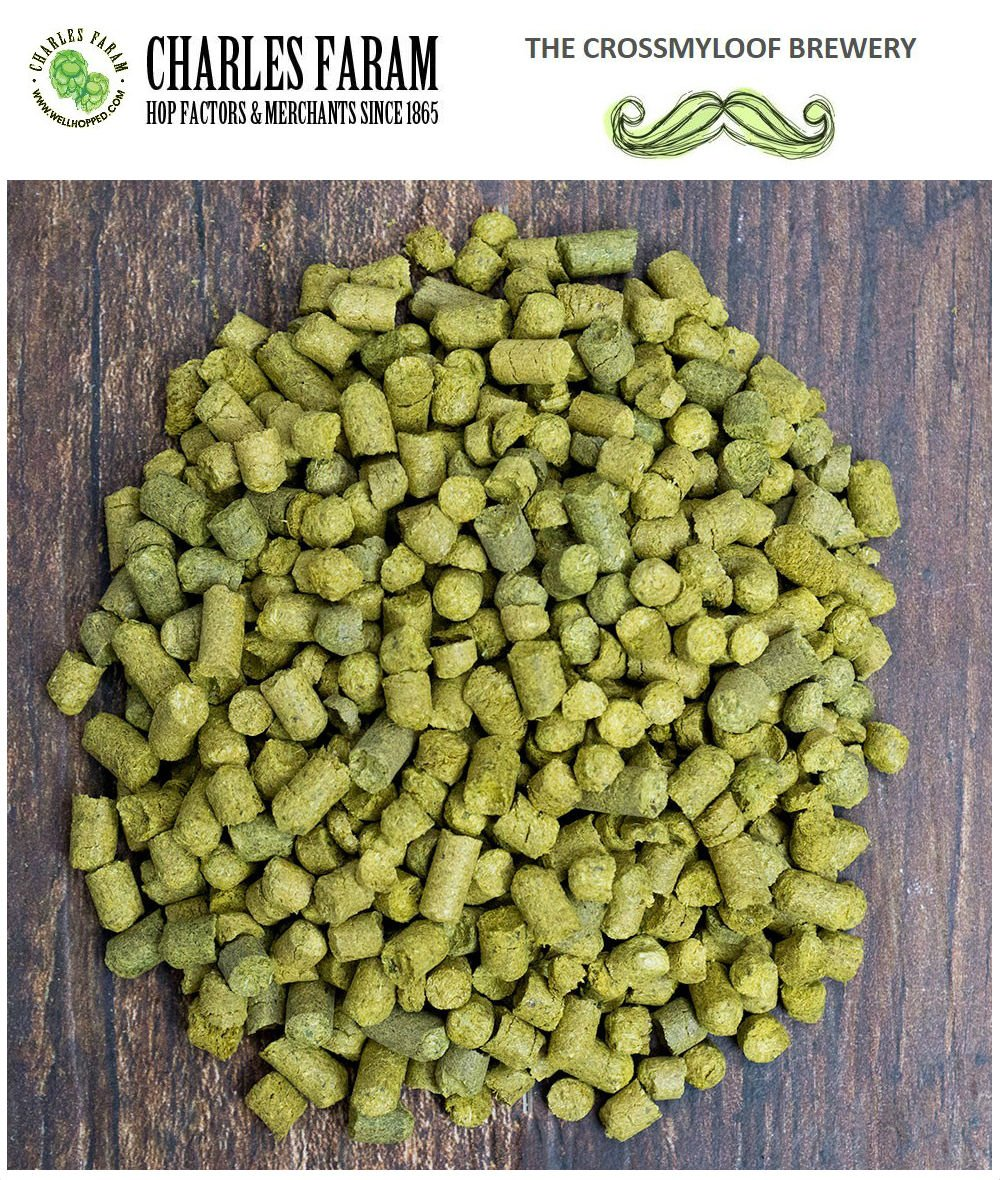 450g of Fuggles Hop Pellets. 4-7% AA - 2017. Cold Stored. Foil CO2 Flushed, or Poly Vacuum Packed for Freshness The Crossmyloof Brewery