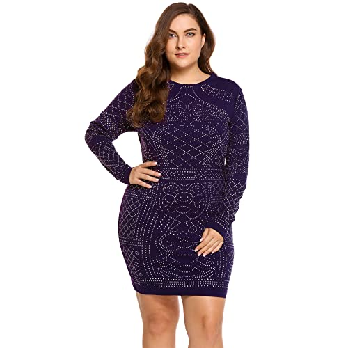 Plus Size Rhinestone Dress Amazon