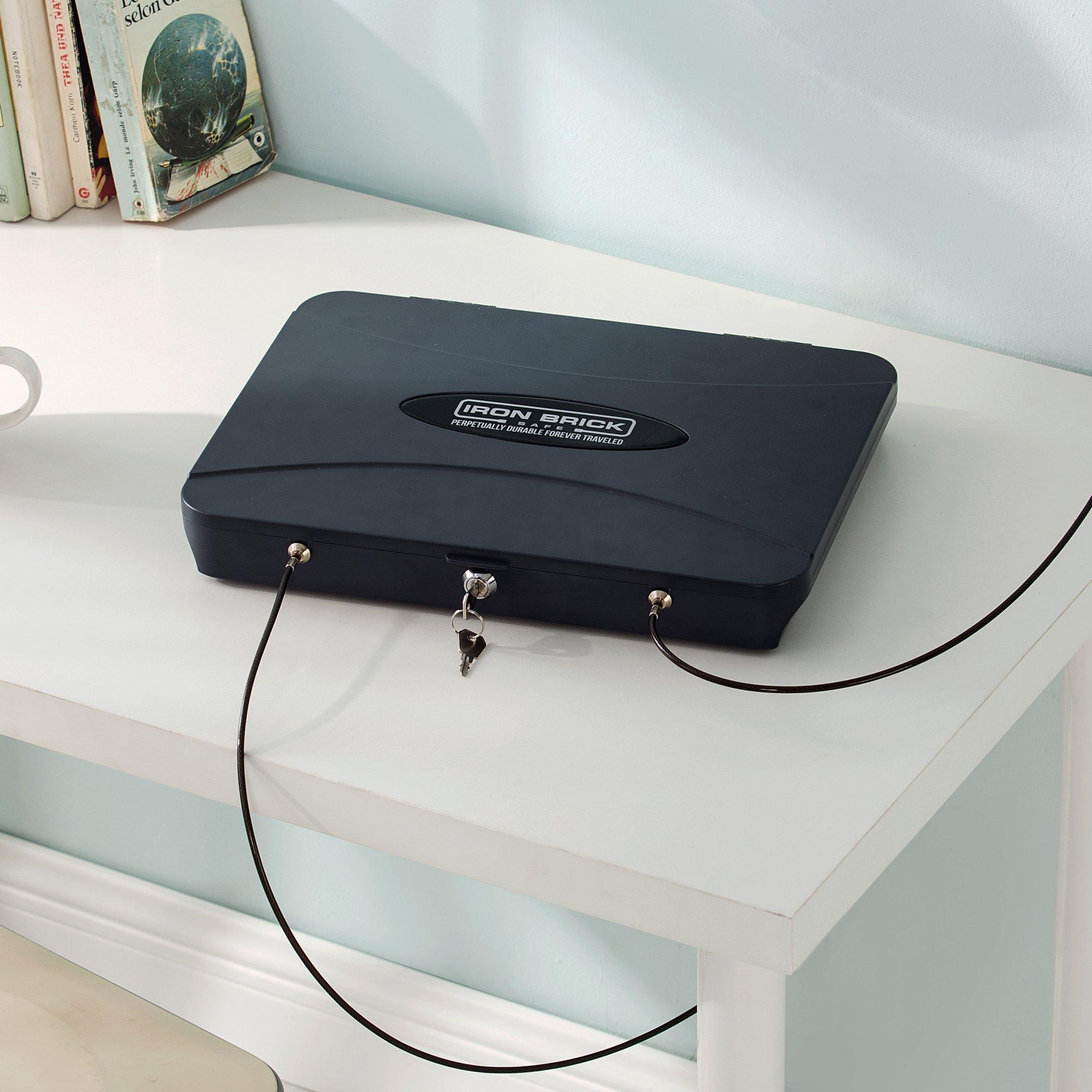 Iron Brick Safe - Portable Laptop/Tablet Safe by DormCo