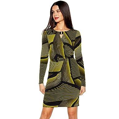 c8b4c0fa06 Debenhams Star by Julien Macdonald Womens Black Chunky Stripe Print Knee  Length Dress  Star by Julien Macdonald  Amazon.co.uk  Clothing