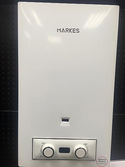 Calentador Gas Natural 11 litros, arranque a Pilas (Incluidas) Puede trabajar a baja