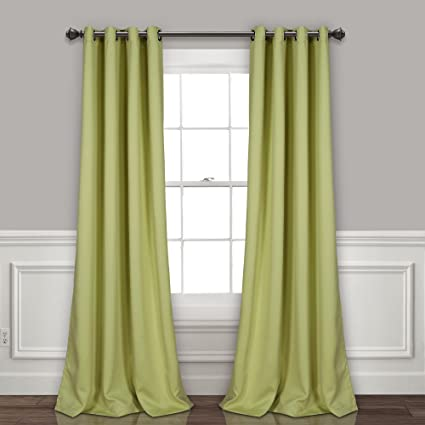 Amazon Com Lush Decor Curtains Grommet Panel With Insulated