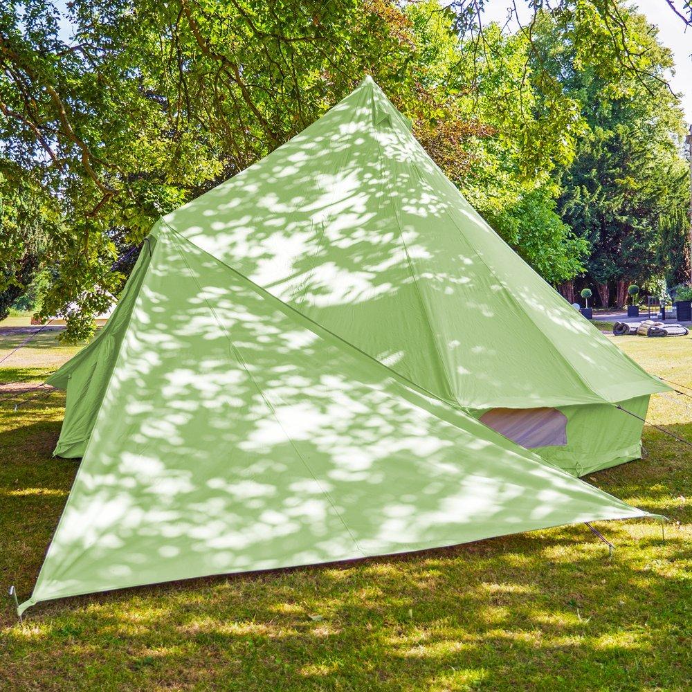 Boutique–Bell tienda triángulo Tarp–Apple verde Boutique Camping
