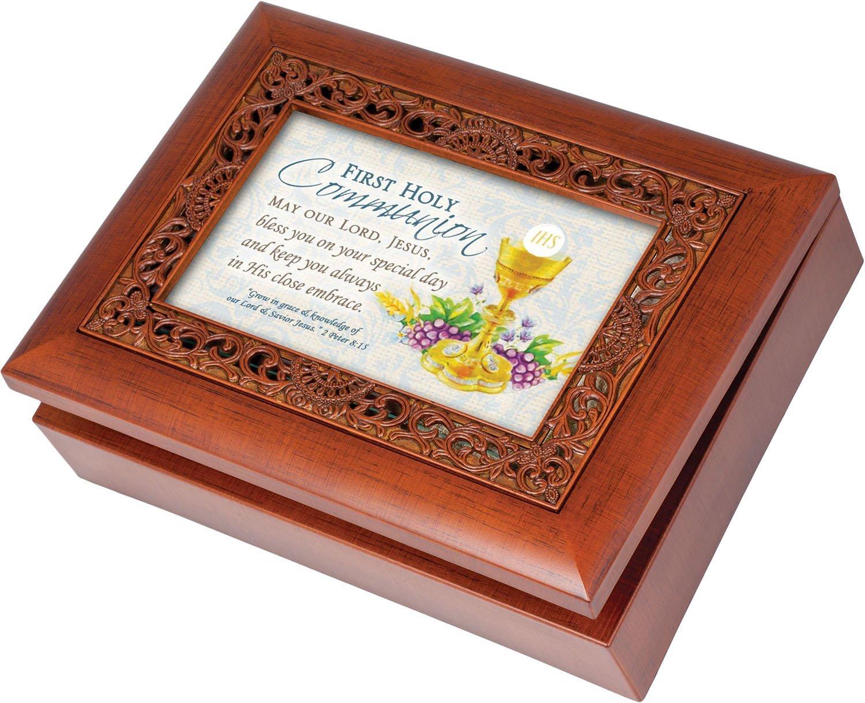 【2019春夏新色】 [コテージ ガーデン]Cottage Garden First Communion Jewelry Box Rich Woodgrain Finish Ornate ガーデン]Cottage Inlay Jewelry Music Box Plays How Great Thou Art AU-INY3-F7JK [並行輸入品] B00MHWUV0I, 近鉄百貨店:b7ee9990 --- arcego.dominiotemporario.com