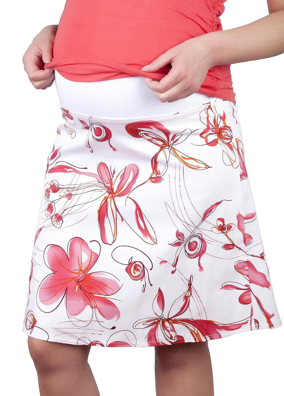 Mija - Jupe élégante de maternité et de grossesse avec des fleurs 1044