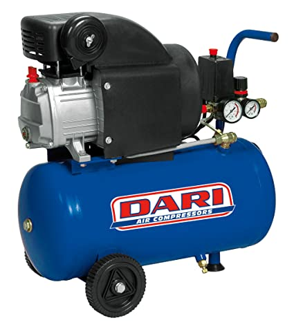 Compresor De Aire DARI 2 Hp 24 Lt 8 Bar (50 Litros) Envío GRATIS